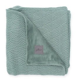 Jollein Couverture 75x100cm River knit ash green/coral fleece