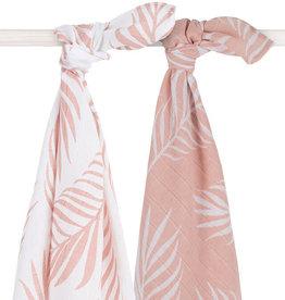 Jollein Hydrofiel multidoek large 115x115cm Nature pale pink (2pack)