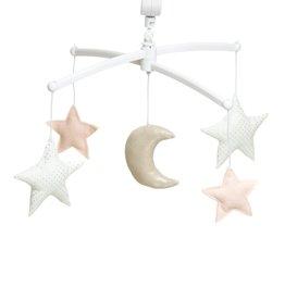 Pouce et Lina Mobile lune et étoiles nude argenté - La petite sirene