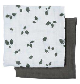 Fabelab Muslin Cloth - 2 Pack - Oak Leaf