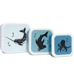 Petit Monkey Set 3 snack boxen | Sea Animals