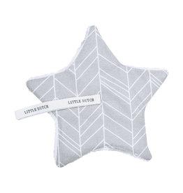 Little Dutch Little Dutch - Doudou attache-sucette Grey Leaves