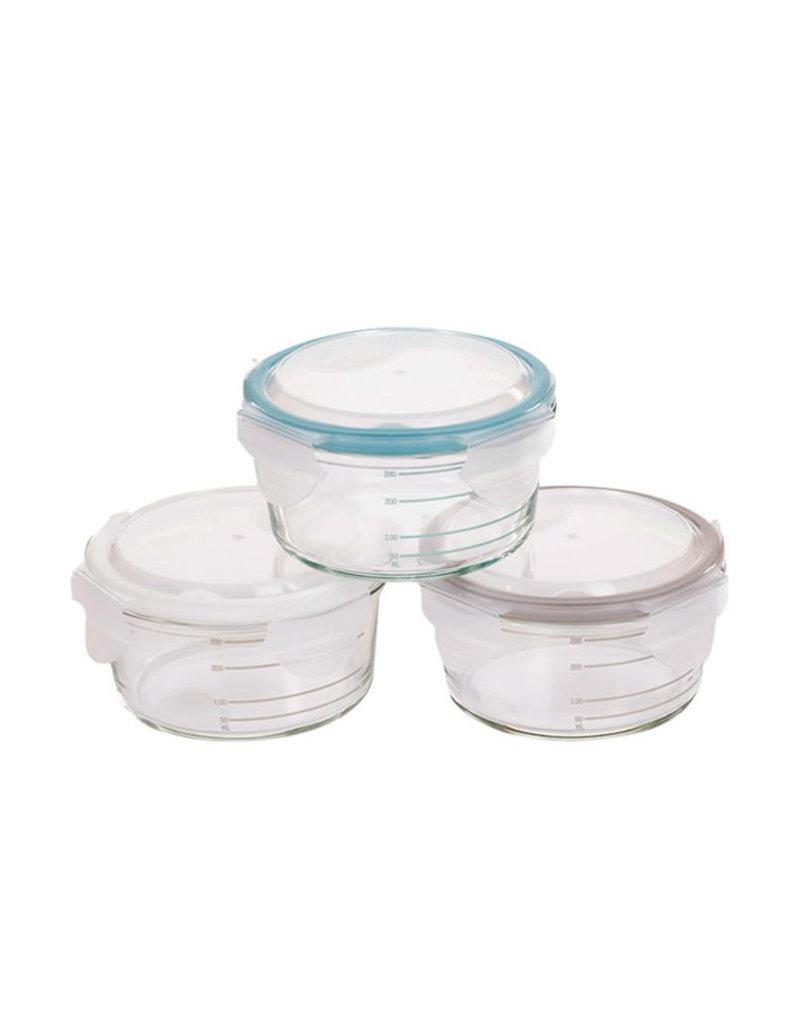 Bo Jungle Bo Jungle - B-Bowls Glass White-Grey-Blue (3pcs)