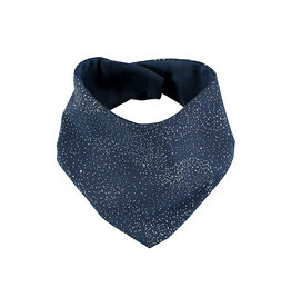 Nobodinoz Nobodinoz - Lucky Bandana bib Gold bubble Night blue