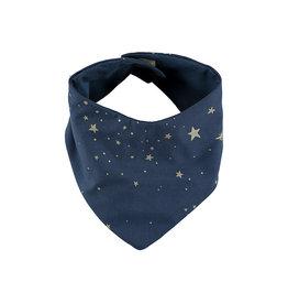 Nobodinoz Nobodinoz - Lucky Bandana bib Gold Stella Night blue