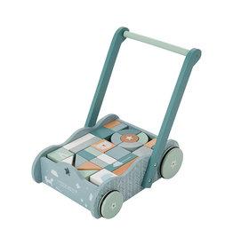 Little Dutch Little Dutch - Chariot à blocs Bleu