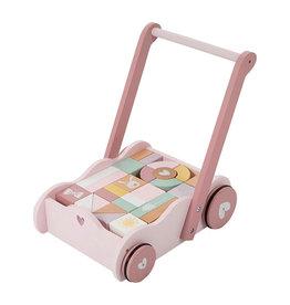 Little Dutch Little Dutch - Chariot à blocs Rose