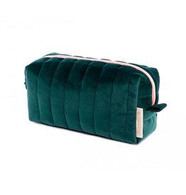 Nobodinoz Nobodinoz - Savanna velvet Vanity Case Jungle green