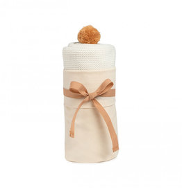 Nobodinoz Nobodinoz - So Natural Knitted baby cape Milk