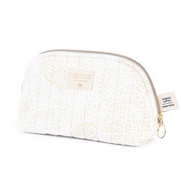 Nobodinoz Nobodinoz - Holiday vanity Case Large Gold bubble White