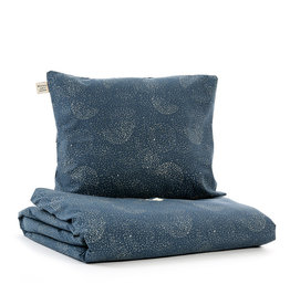 Nobodinoz Nobodinoz - Himalaya duvet Single Gold bubble Night blue