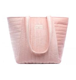Nobodinoz Nobodinoz - Savanna velvet Maternity bag Bloom pink
