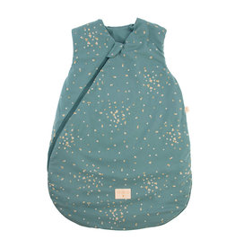 Nobodinoz Nobodinoz - Cocoon Mid season 0-6m Sleeping bag Gold confetti Magic green