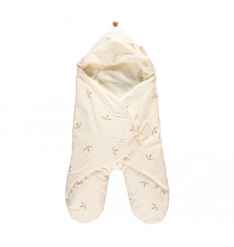 Nobodinoz Nobodinoz - Kiss me natural Mid season 0-6m Baby wrap Nude haiku birds Natural