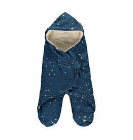 Nobodinoz Nobodinoz - Kiss me Stella Mid season 0-6m Baby wrap Gold Stella Night Blue