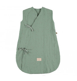 Nobodinoz Nobodinoz - Dreamy Summer Sleeping bag Toffee sweet dots Eden green