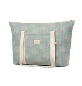 Nobodinoz Nobodinoz - Paris Maternity bag White gatsby Antique green