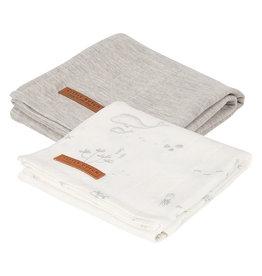 Little Dutch Hydrofiele doeken 70 x 70 Ocean White/Pure Grey