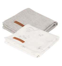 Little Dutch Little Dutch - Swaddle doeken Small Ocean White / Pure Grey