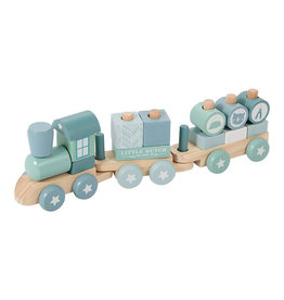 Little Dutch Little Dutch - Train à blocs bleu