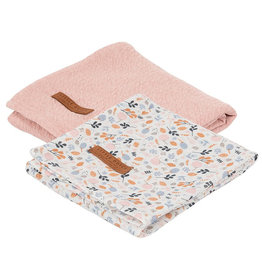 Little Dutch Little Dutch - Swaddle doeken Small Pure Pink / Spring Flowers