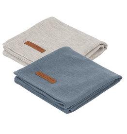 Little Dutch Hydrofiele doeken 70 x 70 Pure Blue/grey