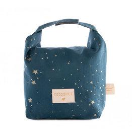 Nobodinoz Nobodinoz - Too cool eco Lunch bag Gold Stella Night blue
