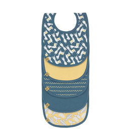 Lassig Lässig - Waterproof Value Pack Bib 5 pcs Glama Lama Blue