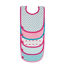 Lässig Lässig - Waterproof Value pack bibs 5 pcs Roze