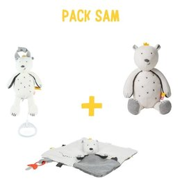Noukies Knuffel pack beer Sam