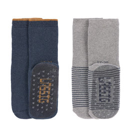 Lassig Lässig - Anti-slip Socks 19-22 Blue / Grey