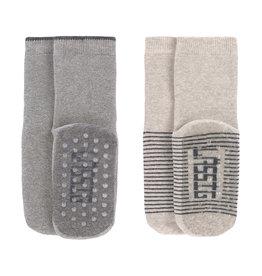 Lassig Lässig - Anti-slip Socks 27-30 Grey / Beige