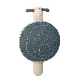Lassig Lässig - Knitted Pouf S Garden Explorer Snail Blue