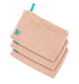 Lässig Lässig - Muslin Wash Glove Set Light pink