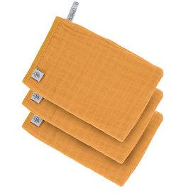 Lässig Lässig - Muslin Wash Glove Set Mustard