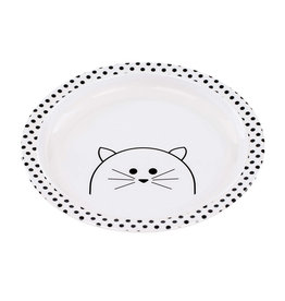 Lässig Lässig - Kids Plate Melamine Little Chums Cat