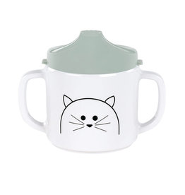Lässig Lässig - 2-handle Sippy cup Melamine Little Chums Cat