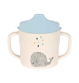 Lässig Lässig - 2-handle Sippy cup Melamine Little Water Whale