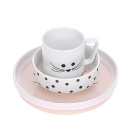 Lässig Lässig - Dish Set Porcelain Little Chums Cat
