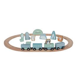 Little Dutch Little Dutch - Circuit de train Bleu