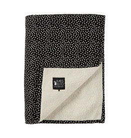 Mies & Co Mies & Co - Soft teddy blanket Dots Black