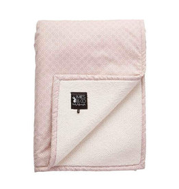 Mies & Co Mies & Co - Baby soft teddy blanket Pretty pearls Chalk pink