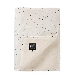 Mies & Co Mies & Co - Baby soft teddy blanket Adorable dot Off white