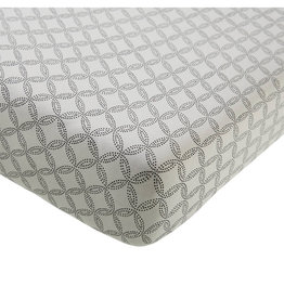 Mies & Co Mies & Co - Fitted sheet toddler Geo circles Off white