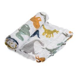 Little Unicorn Little Unicorn - Cotton Muslin Swaddle Dino friends