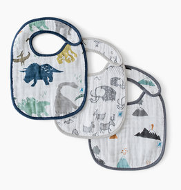 Little Unicorn Little Unicorn - Cotton Muslin Bib 3pcs Dino friends