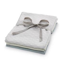 Cam Cam Cam Cam - Muslin Cloth 3pcs Mix grey
