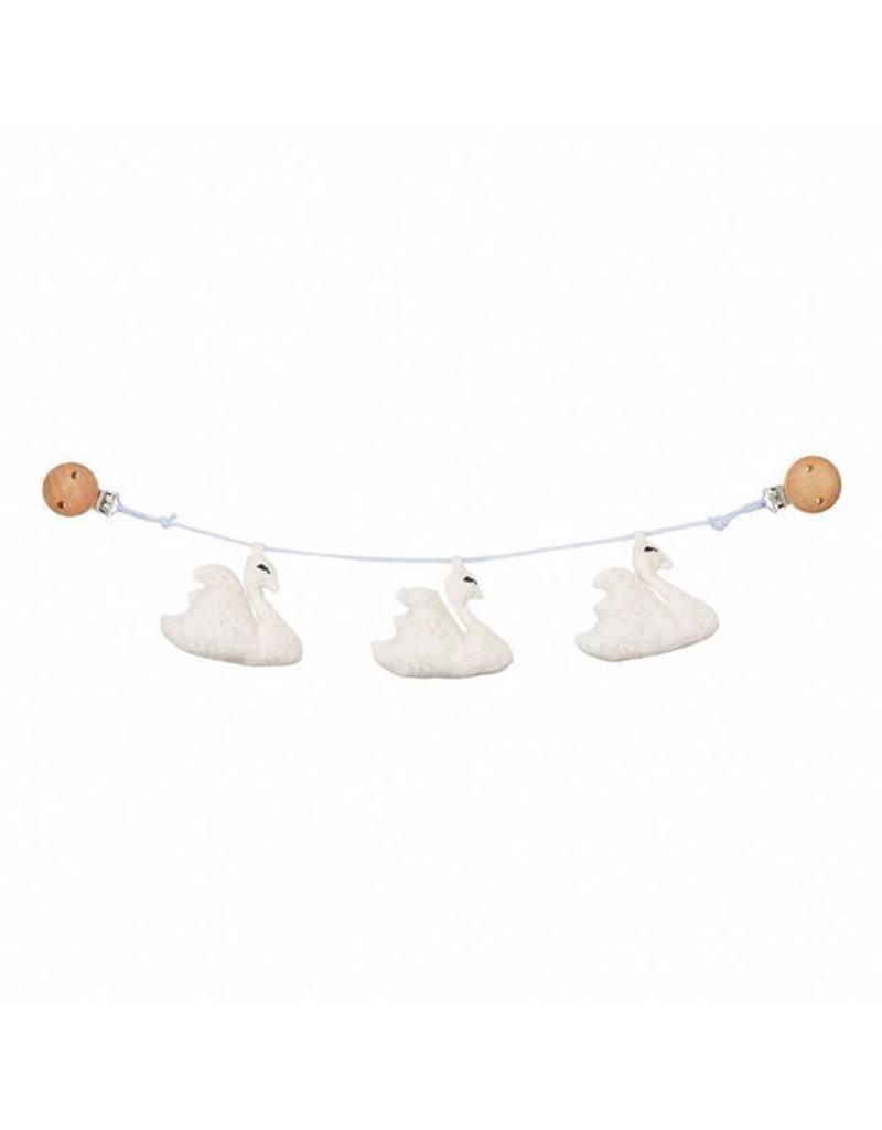 Cam Cam Cam Cam - Swan Pram Chain Off-White