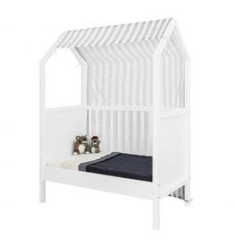 Bopita Bopita - My first house Textiel Bed Grey/White