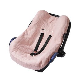 House Of Jamie House Of Jamie - Car seat Cover Geo Jacq Powder Pink